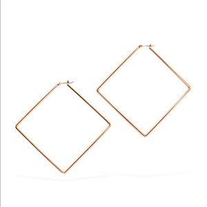 Uncommon James Girl Boss Large Earrings- Rose Gold